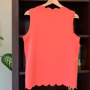 everleigh Tops - NWT Coral Scalloped Blouse Top Shell